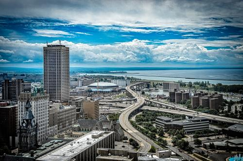 View of Buffalo, NY from the top of City Hall