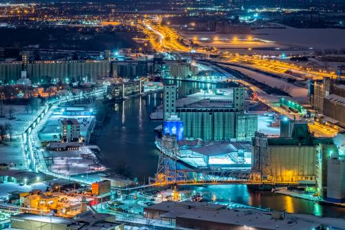 Buffalo River and Grain Elevators