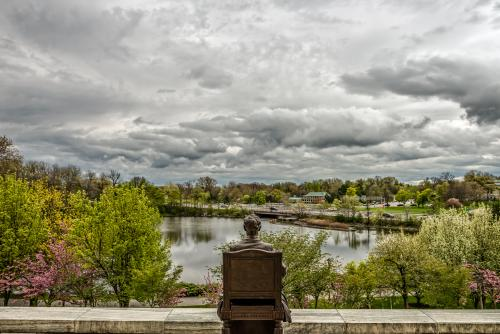 View From the Back Steps of Buffalo History Museum
